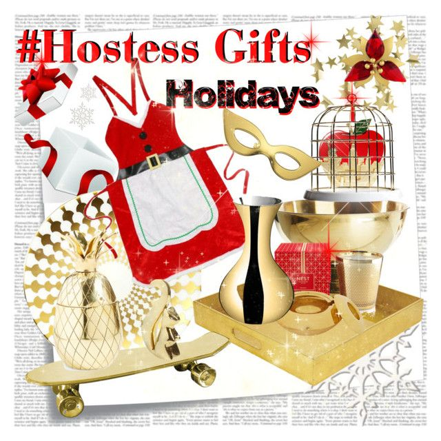 Holidays Hostess Gifts by stylepersonal on Polyvore featuring polyvore, interior, interiors, interior design, home, home decor, interior decorating, B by Brandie, The Mason Shaker, L'Atelier du Vin, Seletti, Tom Dixon, Kate Spade, Jonathan Adler, Nest Fragrances, Chem Art, Swarovski, H&M, Post-It, holidays and hostessgifts