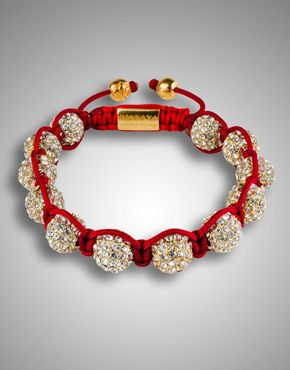 Clear Crystal Red Bracelet