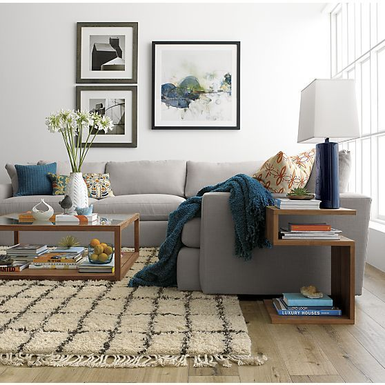"Entu Side Table in Coffee Tables & Side Tables | Crate and Barrel  $349 22.85""Wx16.6""Dx16.75""H:"