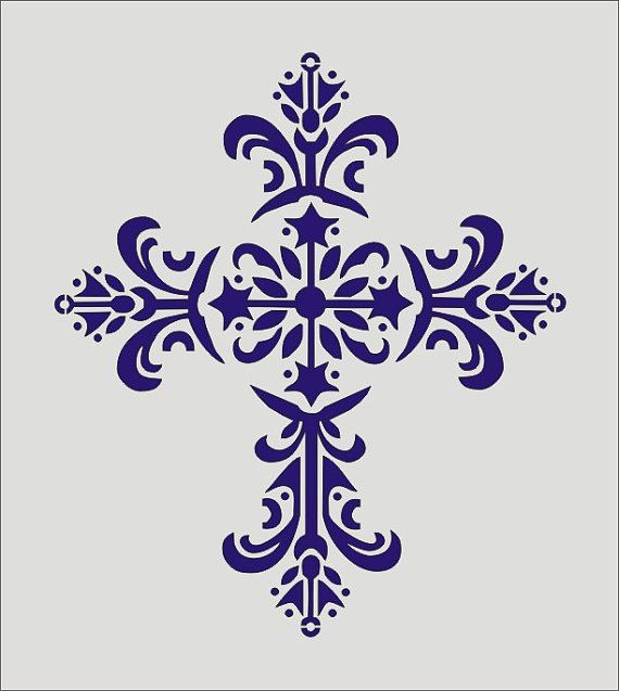 Vintage Cross Stencil   8 Tall x 7 Wide by SuperiorStencils, $9.95