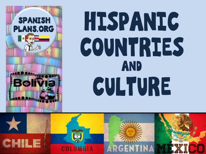 Hispanic Countries and Culture Pinterest Board https://www.pinterest.com/spanishplans/hispanic-countries-and-culture/