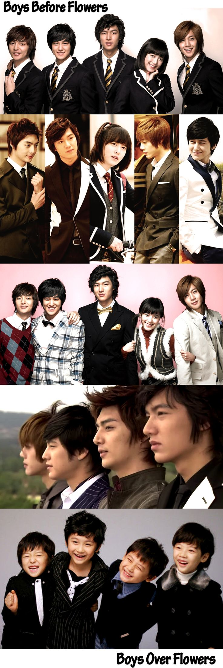 꽃보다 남자 - Boys Before Flowers (Boys Over Flowers) - KDRAMA 2009 - 25 episodes - Koo Hye Sun / Lee Min Ho / Kim Hyeon Joong / Kim Bum / Kim Joon by Luciane Miyuki Sakakima