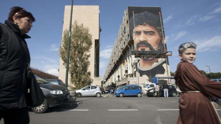 Diego Maradona: Footbal legend's mural celebrates Naples 'Saint Diego'