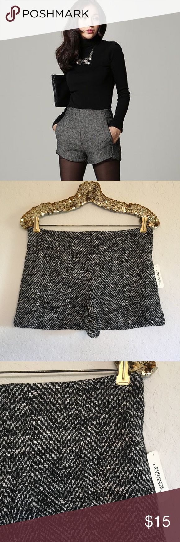 ✨NWT✨ Forever 21 Knit Shorts These brand new Forever 21 knit shorts are so stylish and great for fall! They would look so cute paired with tights and boots!  🚭 From a smoke-free home ❌ No trades or off PoshMark sales 🛍 Bundles welcome and encouraged 👌🏻 Reasonable offers welcome ⚡️ Same/next day shipping 🌬 All items are steamed before shipping Forever 21 Shorts