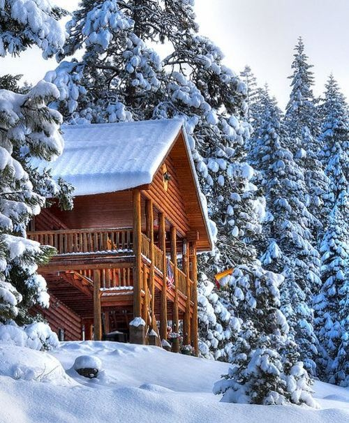 Pin by Shu Shu Fontana on winter | Pinterest | Cabin, Snow and Log cabins
