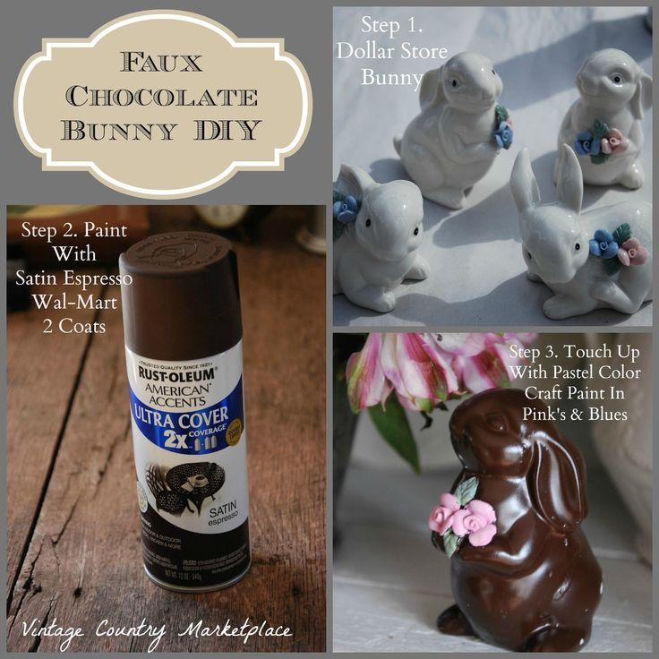 Vintage Country Style: Tutorials Dollar Tree Chocolate bunnies