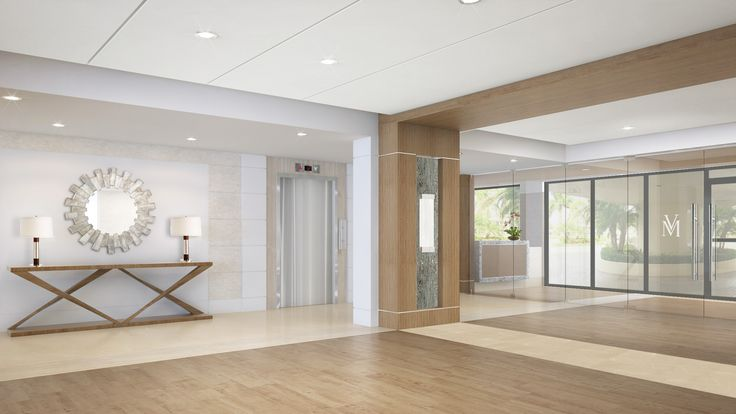 Residential lobby by Leighton Design Group.