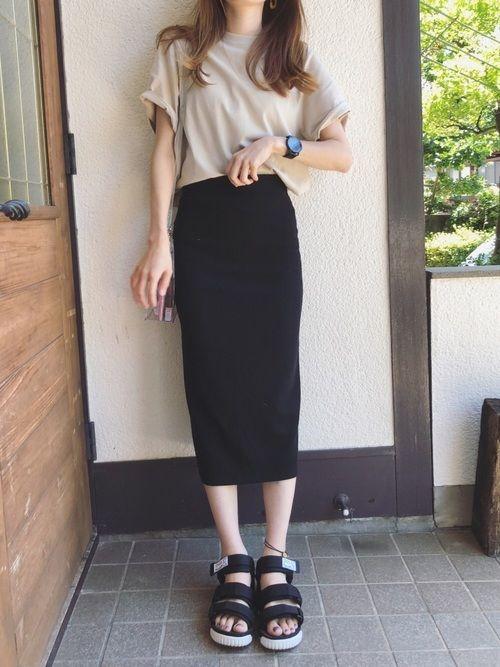 Sato*|ユニクロのTシャツ・カットソーを使ったコーディネート