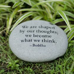 Stone 'We are Shaped by our Thoughts' Messenger Rock (Indonesia) | Overstock™ Shopping - Great Deals on Garden Accents