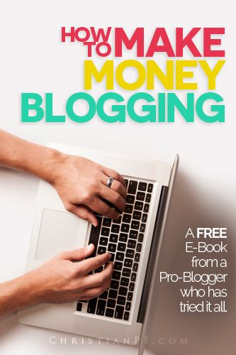 8000-word Free ebook about how to make money blogging written by professional blogger Bob Lotich of Seed Time He has been blogging full-time since 2008 and shares his strategy for growing his audience and earning more blogging in his book here