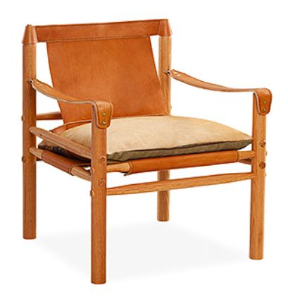 Safari-esque leather chair. Lee Industries :: L1898-01 LEATHER CHAIR