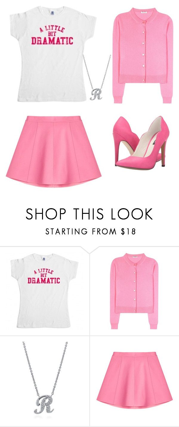 """Regina George"" by lauren53103 on Polyvore featuring Miu Miu, BERRICLE, RED Valentino, Michael Antonio, Costume and reginageorge"