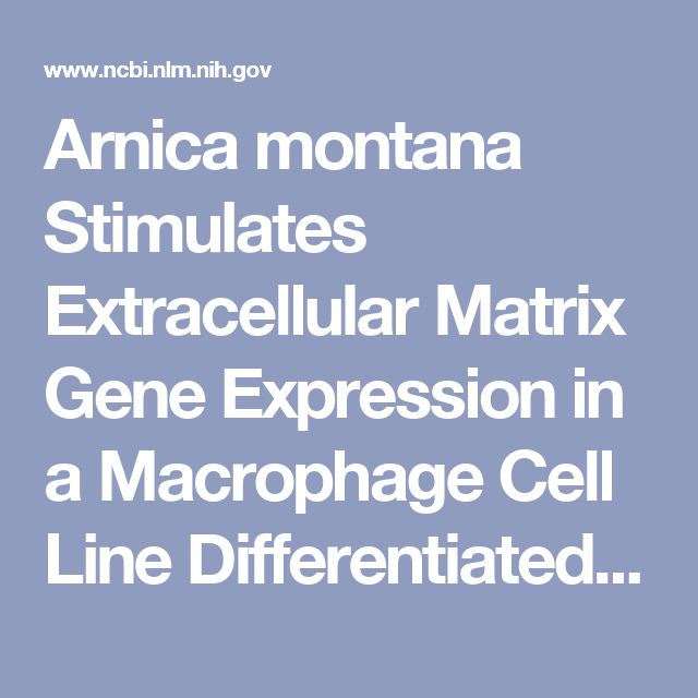 Arnica montana Stimulates Extracellular Matrix Gene Expression in a Macrophage Cell Line Differentiated to Wound-Healing Phenotype. - PubMed - NCBI