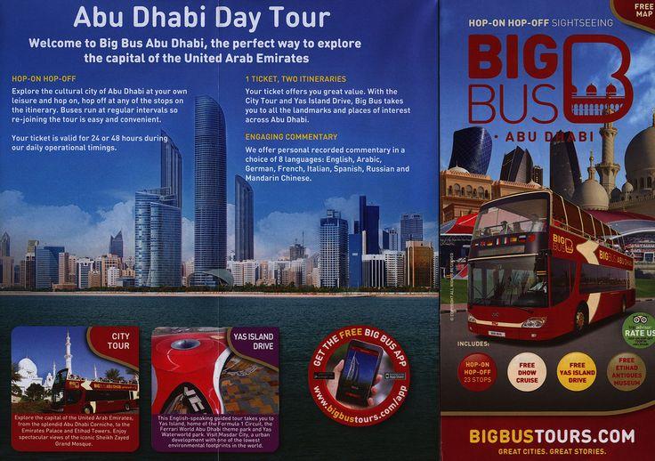 https://flic.kr/p/EZGCnj   Big Bus Abu Dhabi; 2015_1, map, UAE   tourism travel brochure   by worldtravellib World Travel library