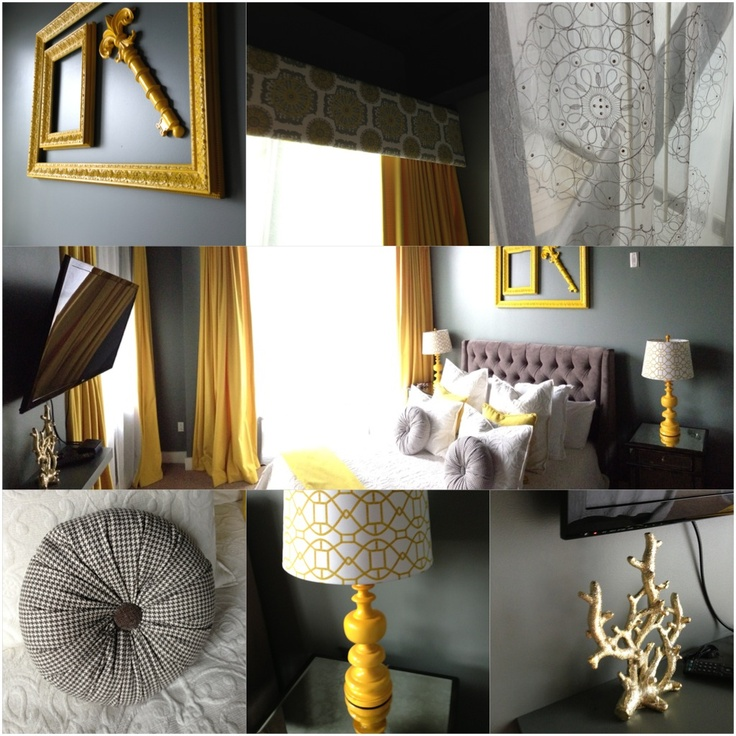 Best Master Bedroom Mustard Yellow And Slate Grey With A Mix 640 x 480