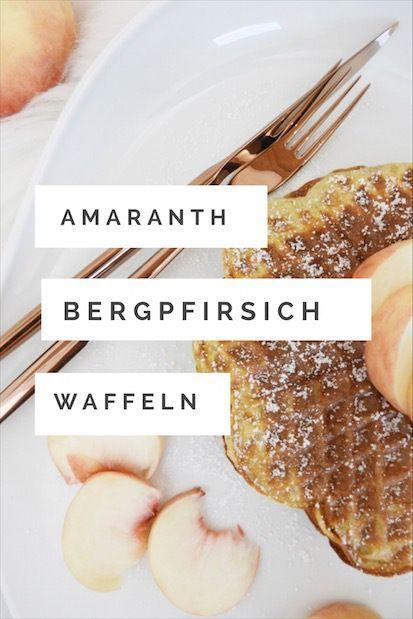 Die extravaganten Bergpfirsich-Amaranth-Waffeln