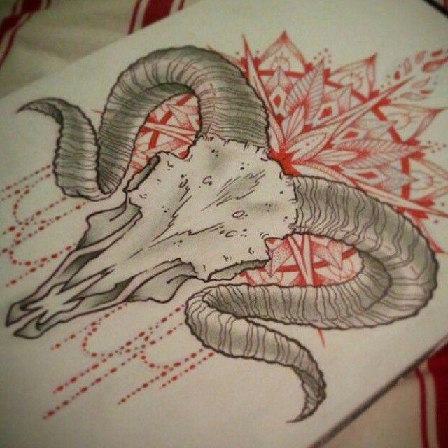 ram skull tattoo - Google Search