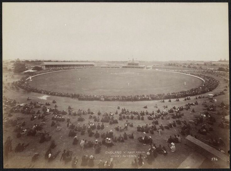 Sydney Cricket Ground, seen here in 1892, goes back over six decades before Fenway Park in Boston.  It was established in 1848!
