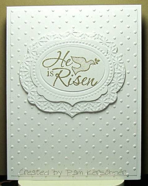 Easter Dove White On White By Pamelak Cards And Paper