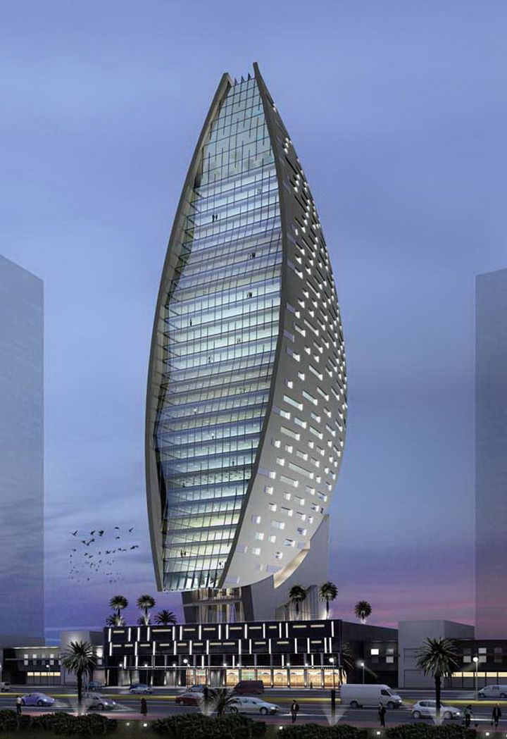 iris bay tower by atkins architects 32 floors height 170m architecture amazing pinterest. Black Bedroom Furniture Sets. Home Design Ideas