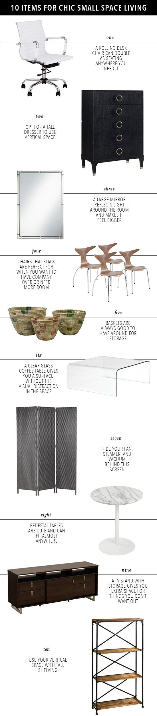 10 Essentials for Chic Small Space Living | Blogged on