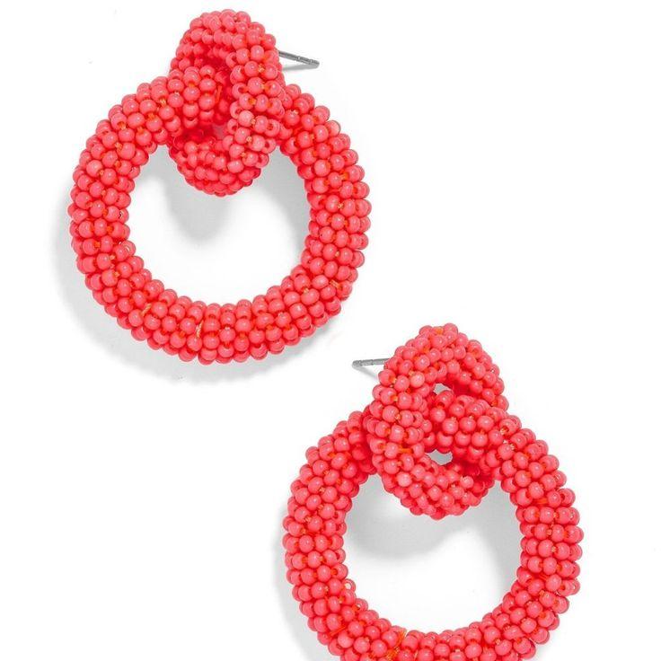 Mini Emma Earrings Coral Hoop Earrings Earrings Crochet Earrings