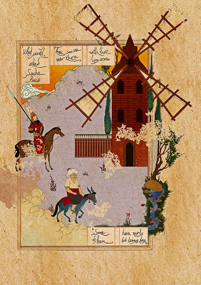 Incarnated By Words on Behance - Don Quixote by Murat Palta