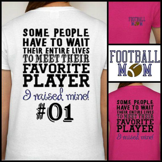 Football Mom tshirt Proud Football Mom Shirt by DesignsbyJackelyn, $22.95