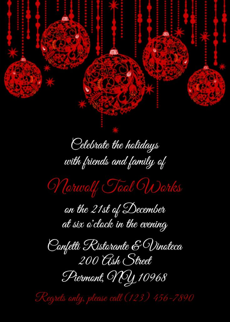 17 best RSCF Holiday party invitations images on Pinterest - dinner party invitation sample