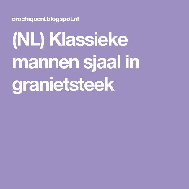 (NL) Klassieke mannen sjaal in granietsteek