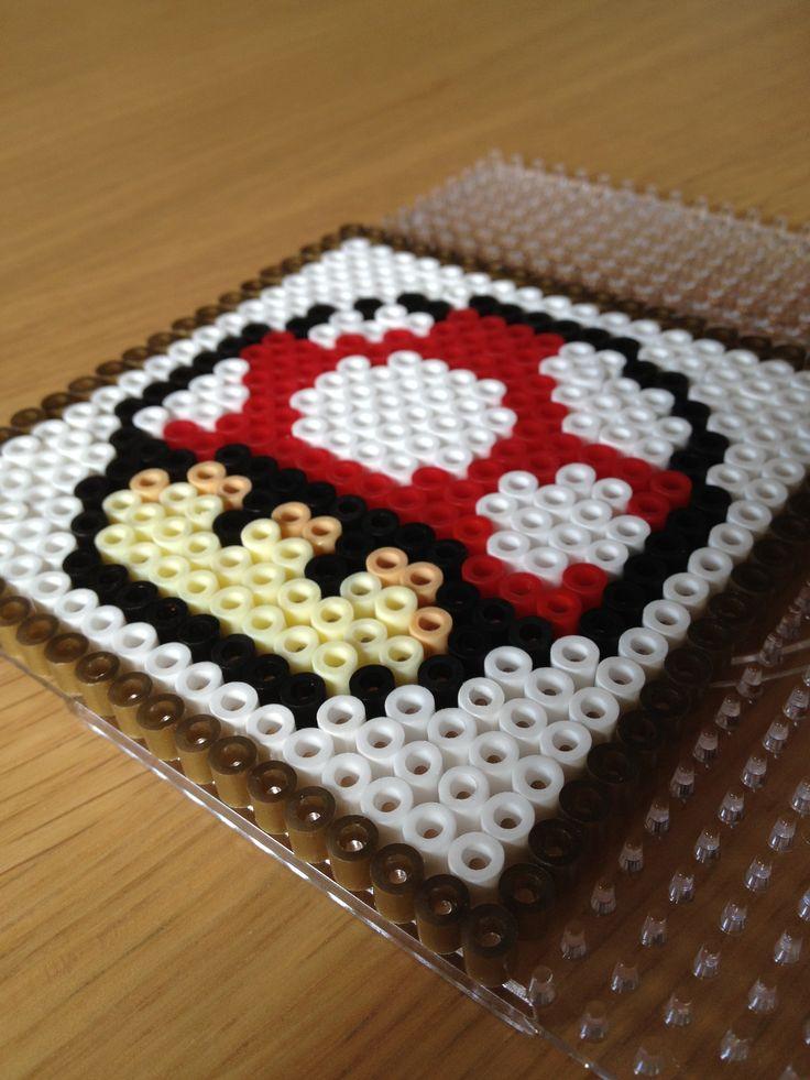 Super Mario perlerbead coaster