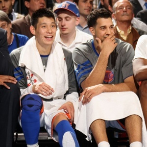 Jeremy Lin #17 & Landry Fields #2