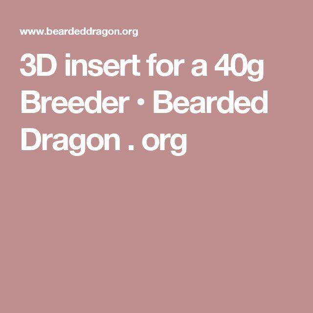 3D insert for a 40g Breeder • Bearded Dragon . org