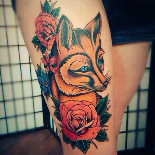 45 Best Fox And Wolf Tattoos Images On Pinterest