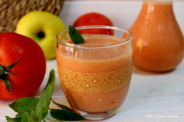 Gazpachos, bebidas frías, Julia y sus recetas, cremas frías, entrantes, verduras, hortalizas, receta de verano
