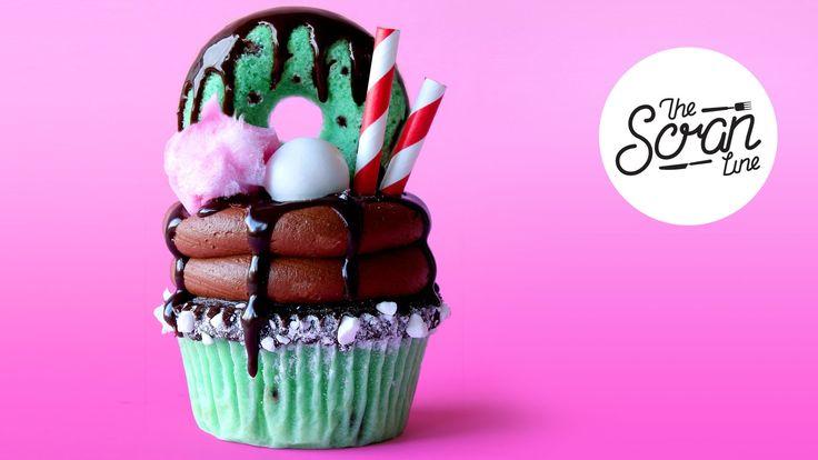 CHOC MINT FREAKSHAKE CUPCAKES ft. Yolanda Gampp from How To Cake It! - T...