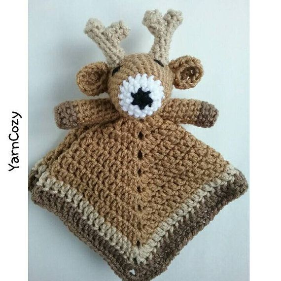 Baby Deer Blanket, Deer Baby Blanket, Baby Deer Nursery, Woodland Baby shower, Baby Deer Lovey, Crochet Deer Lovey Check out this item in my Etsy shop https://www.etsy.com/listing/386587358 Also YarnCozy on Facebook and @yarncozy on Twitter