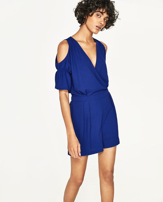 Cut out shoulders jumpsuit from Zara