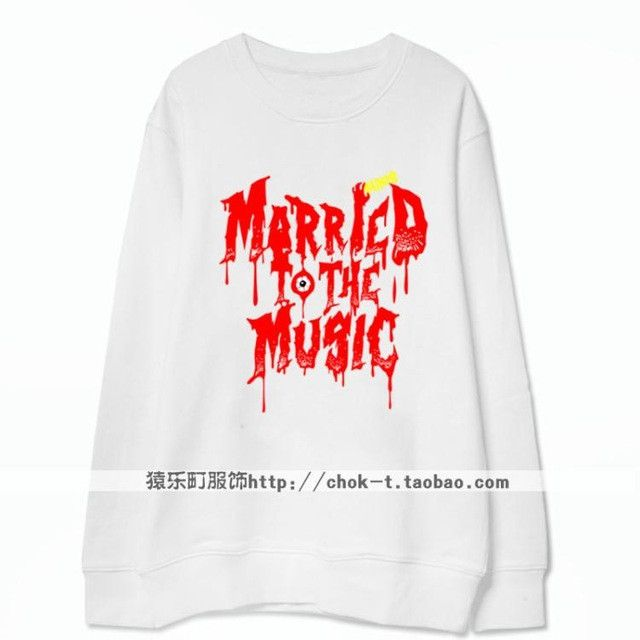Kpop shinee album married to the music printing thin hoodie for men women fashion bleeding letters o neck sweatshirt plus size