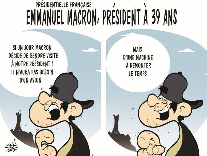 Sadki (2017-05-09) France: Présidentielle française: Emmanuel Macron, président à 39 ans ÷÷÷ Caricature de Sadki du 09-05-2017   Presse-dz