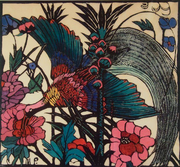 Superb Decorative PRINT of MARGARET PRESTON S BIRD OF PARADISE - Australian Art