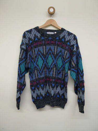 Cow Vintage fresh prince crazy print jumper | eBay