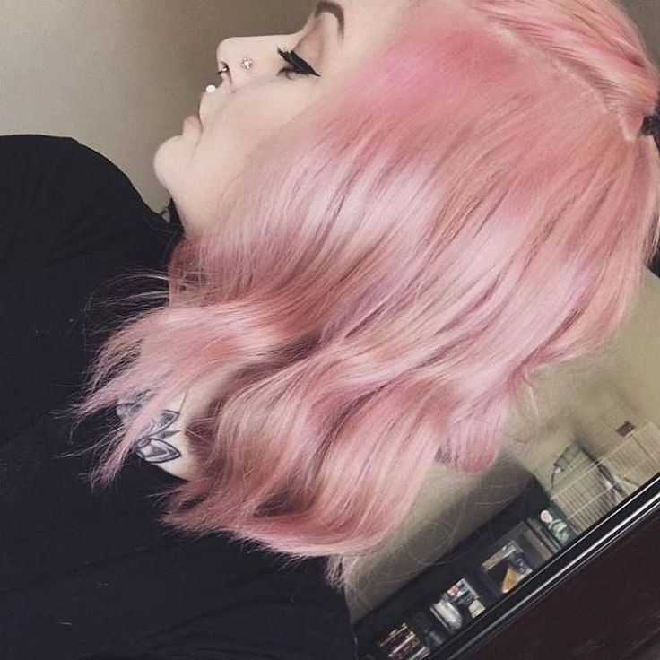 """MANIC PANIC on Instagram: """"@floralgrxxn uses #CottonCandyPink  diluted with conditioner to get this dusty shade of rose.  It's the perfect color for Spring! """""""