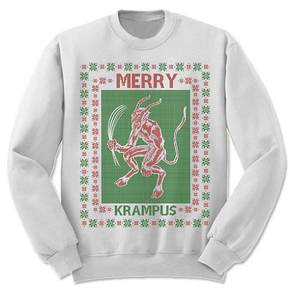 Krampus Sweater. Tacky Christmas Sweaters. by giftedshirts on Etsy