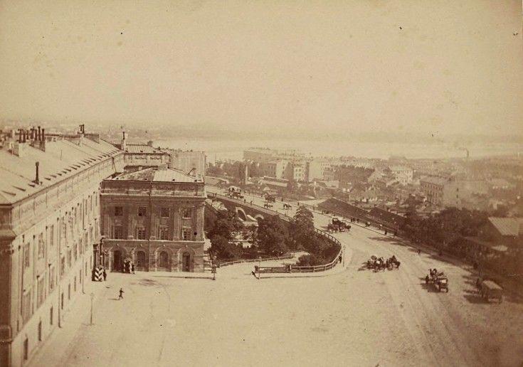 Warszawa w 1870 roku Plac Zamkowy