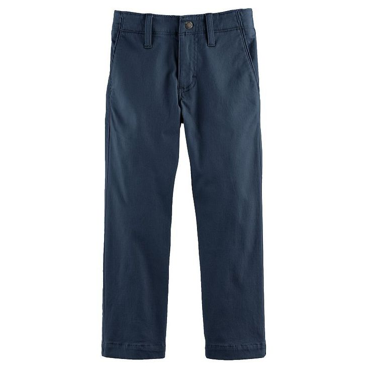 Boys 4-7x Lee Xtreme Slim Fit Chino Pants, Size: medium (7), Blue (Navy)