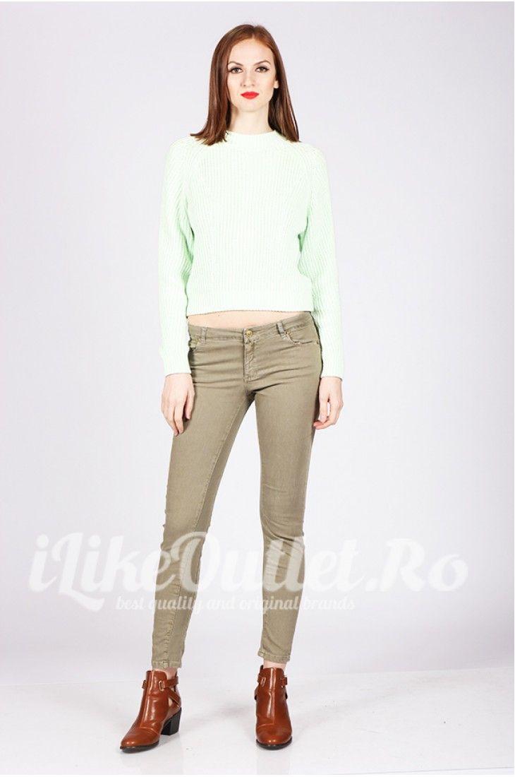 Pantaloni kaki cu insertie elastica  ZW