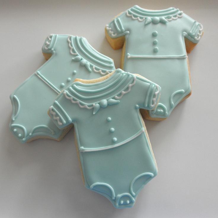 Sailor Onesie Cookies- 1 dozen. $32.00, via Etsy.