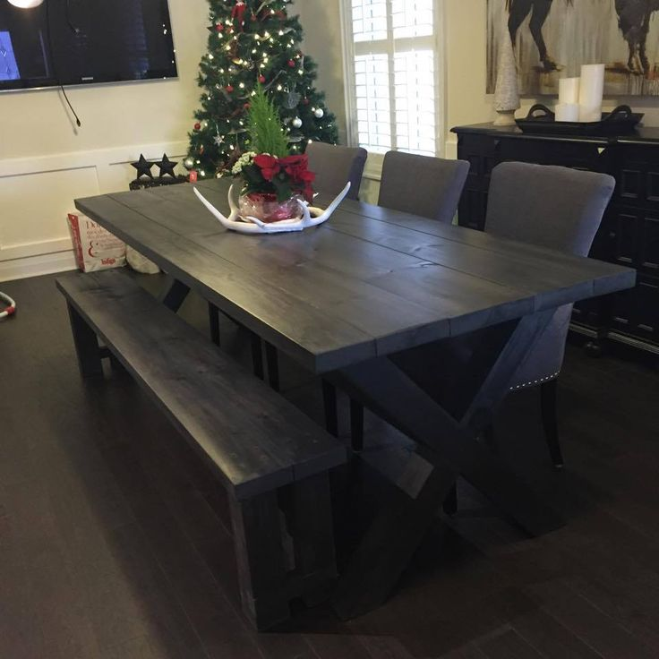 17 Best images about tables on Pinterest  Harvest tables, Grey stain and Live edge table