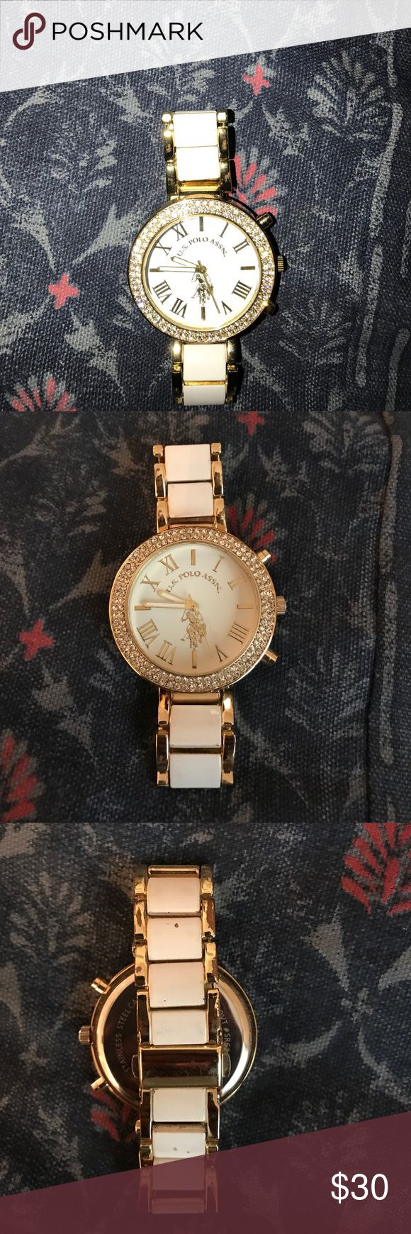 POLO watch Worn a few times, white with gold rims. Unsure on how much this was Polo by Ralph Lauren Accessories Watches